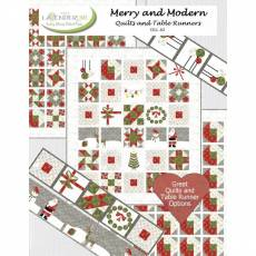 Buch *Merry and Modern Quilts and Table Runners* Designs by Lavender Lime von Kathy Skomp in Englisch