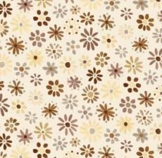 Auslaufmodell Sommer Stoff  *Growing up* Blumen beige S37
