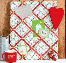 Materialpackung *Fruchtige Pinnwand* ca. 40 x 50 cm MP21-FP Erdbeeren rot grün MP21-0184
