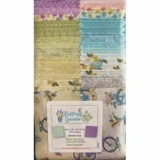 Stoffpaket *Butterfly Garden* Strip-pies 40 Stück 2,5 x 42 inch STBTGPK