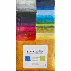 Stoffpaket *Marbella* Strip-pies 40 Stück 2,5 x 42 inch Paula Nadelstern STMRBPK