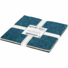 Layer Cake *Moonlight* 42 Squares 10 Inch Sterne blau schwarz grün beige weiß TEN-954-42