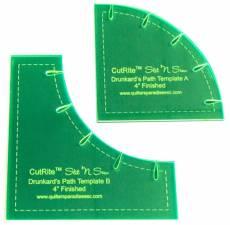 CutRite Drunkards Path 4 Inch Finished Template Set Schablonen Set QP031173