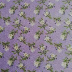Patchworkstoff Quiltstoff *Simple Pleasures* Blumen lila grün creme RJR0870