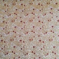 Baumwollstoff Patchworkstoff  Blumen Ranken braun rot creme Pb120-297