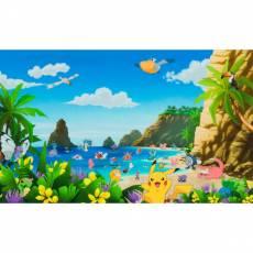 Baumwollstoff Panel *Pokemon Beach* 65 x 110cm Pokemon Strand grün blau gelb  AOPD18843205