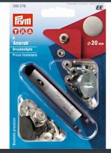 Prym Anorak Druckknöpfe Press fasteners 15 mm 390 307