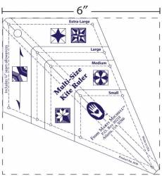Marti Michell Multi-Size Kite Ruler  Schablone Lineal Sternform MM-8158