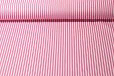 Patchworkstoff Baumwollstoff *Ring a Roses* REST 48 x 110 cm Streifen rosa weiß RK44