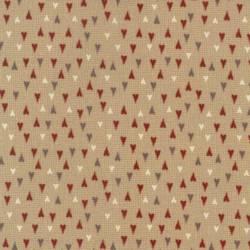 Patchworkstoff REST 50 x 110 cm Herzen creme rot grau Weihnachten Skandinavien 706911L-12RK