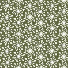 Patchworkstoff Flanell *Green Snowflake* Flannel Schneeflocken grün weiß F9938M-G