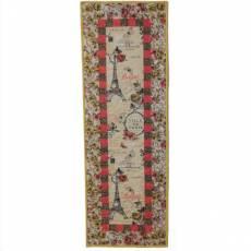 Materialpackung *Paris* Tischläufer 127 x 47 cm Vintage Style creme rosa gelb schwarz MP21-0194G