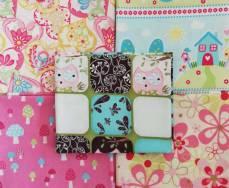 Angebot Monat September 21 Fat Quarter Paket Set 45 cm x 55 cm Blumen Ranken Eule Pilze gelb blau pink rosa grün Fat78