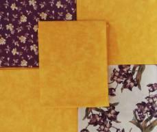 Angebot Monat September 21 Fat Quarter Paket Set 45 cm x 55 cm Blumen Ranken gelb lila grün creme Fat77