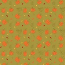 Patchworkstoff *Autumn Pumpkin Olive* Herbst Kürbis orange grün C10821R-OLIV