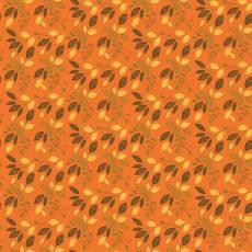 Patchworkstoff *Autumn Leaves Orange* Herbst Blätter orange braun grün C10822-ORAN