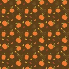 Patchworkstoff *Autumn Pumpkins Chocolate* Herbst Kürbis orange braun grün C10821R-CHOC