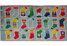 Patchworkstoff Stoff Panel *Novelty Mini Stockings* Stockings Stiefel Adventskalender  MAK1814