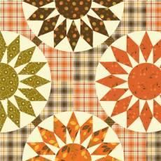 Patchworkstoff *Autumn Cheater Print* Herbst Print Karo Rauten orange braun creme grün C10830R-MULT