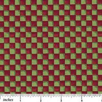 Patchwork Quilt karierter Stoff grün/rot Größe: 82x110 cm