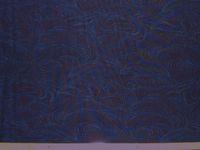 Sakura Wellen blau auf blau; 50x110cm