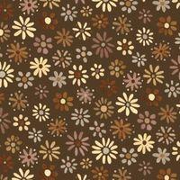 Patchworkstoff Quilt Stoff Blumen Braun