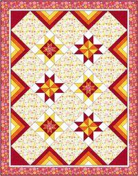 Materialpackung *Flockenwirbel* Sommer Quilt 130 x 190 cm MP21-0100