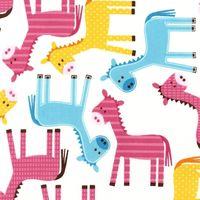 Patchworkstoff Quilt Stoff R. Kaufman Urban Zoologie Giraffe
