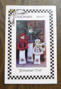 Anleitung `Snowman Trio` 3 Schneemänner
