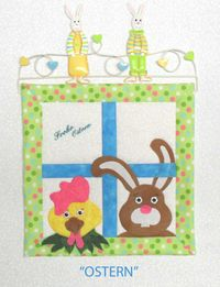 Wandbild Ostern Materialpackung 12 x 12 Inch Hase und Huhn