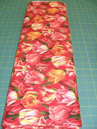 Patchworkstoff Stoff Quilt Rote Tulpen Bouquet of beautiful Style D518 Hoffman California International Fabric 30x110cm