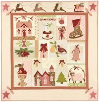 A Vintage Christmas Quilt Anleitung 1,34m x 1,40m