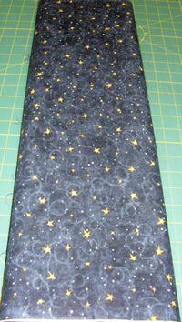 Patchworkstoff Stoff Quilt Village Charm Wilmington Prints Sterne auf schwarz 30x110cm