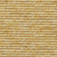 Patchwork Musikinstrumente Dan Morris auf beige Script Schrift 30cm x 110cm