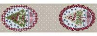 Schmuckwebband Weihnachtsovale natur 5 cm breit