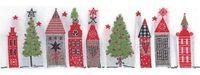 Schmuckwebband Weihnachtsstadt weiss, 5cm breit