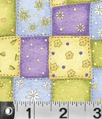 Patchworkstoff Stoff Quilt *Garden Gifts* Patch Quadrate