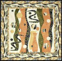 Materialpackung `Byzantium` mit Nähanleitung in orange 102x102cm