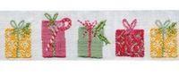 Schmuckwebband Weihnachtspäckchen bunt 2 cm breit
