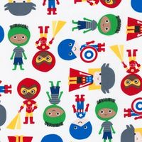 Patchworkstoff Quilt Stoff Super Kids Primary Superhelden Avengers Thor Iron Man Captain America Hulk