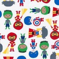 Patchworkstoff Quilt Stoff Super Kids Primary Superhelden Avengers Thor Iron Man Captain America Hulk