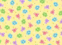 Patchworkstoff Stoff Quilt  Bunte Schleifen auf beige mit Glitter