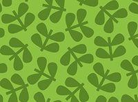 Patchworkstoff Stoff Quilt Blattpaare dunkelgrün auf grün