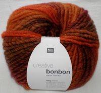 Creative Bonbon Super Chunky Wolle Rico multi orange 100g 383084.004