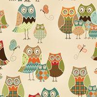Patchworkstoff Quilt Stoff Owl Wonderful Beistoff Eulen REST 0,95 x 1,10 m Q1430 28625 184S
