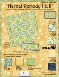 Kostenlose Nähanleitung Quilt `Herbal Remedy` 1 & 11 von Debbie Haviland