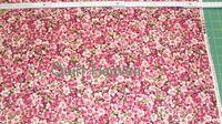 Patchworkstoff Blume Hortensie Hydrangea klein weinrot 67cmx110cm Reststuck