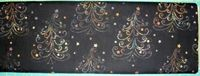 Patchworkstoff Stoff Quilt Batik Weihnachtsbaum Tanne Bäume auf schwarz 30x110cm