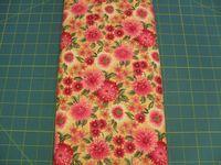 Patchworkstoff Stoff Quilt Red Flowers Rote Blumen 30x110cm