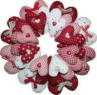 Materialpackung `Heartbreaker` Kranz aus Herzen rot